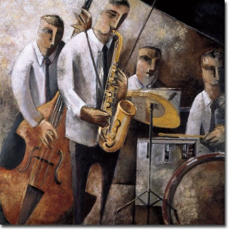 Jazz en Vivo (Live Jazz) by Didier Lourenco Gallery Wrapped Canvas Giclee Art