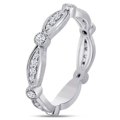 Divina 14KT White Gold 1/4ct TDW Diamond Eternity Band