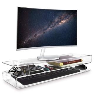 Ikee Design Acrylic Monitor Storage Riser Desk & Countertop Stand