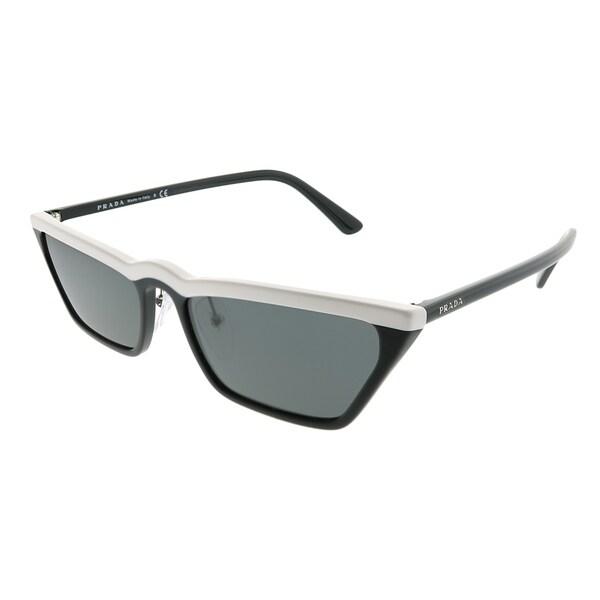Shop Prada Cat-Eye PR 19US YC45S0 Women White Black Frame Grey Lens ...