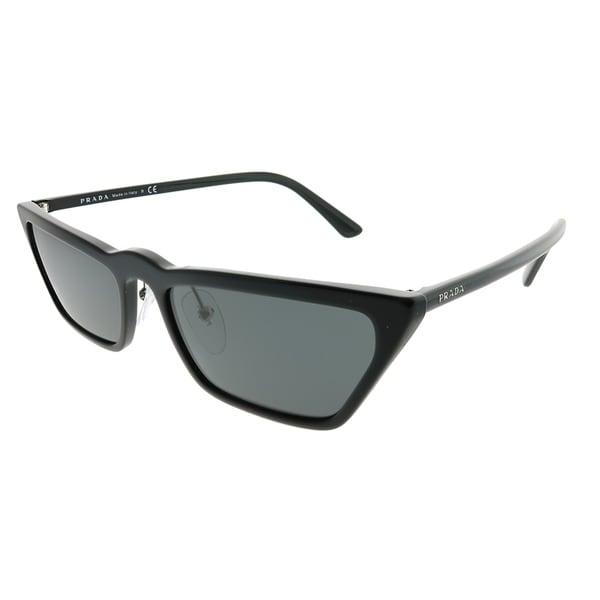1b0397ebfa7 Prada Cat-Eye PR 19US 1AB5S0 Women Black Frame Grey Lens Sunglasses