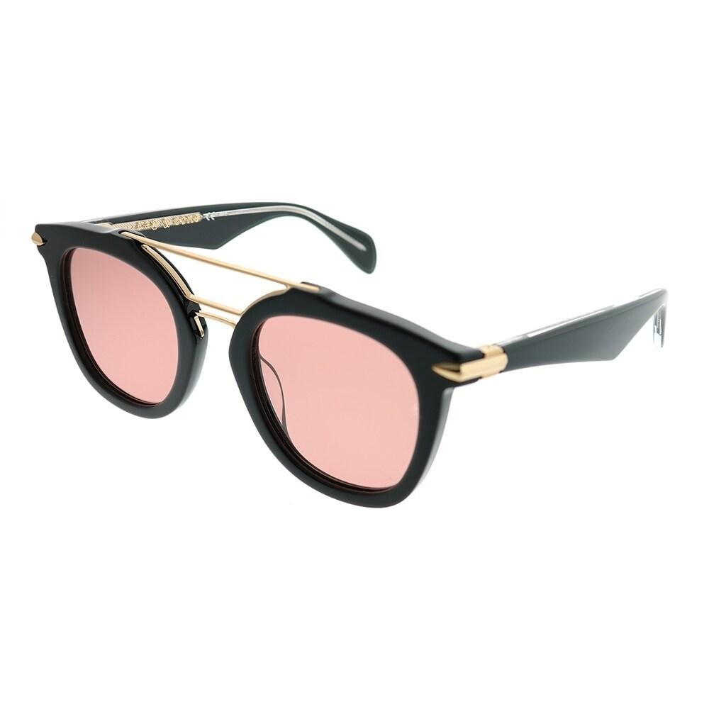 Rag /& Bone Veska RNB 1005//S YYC 4S Black Gold Bronze Sunglasses Grey Gradient