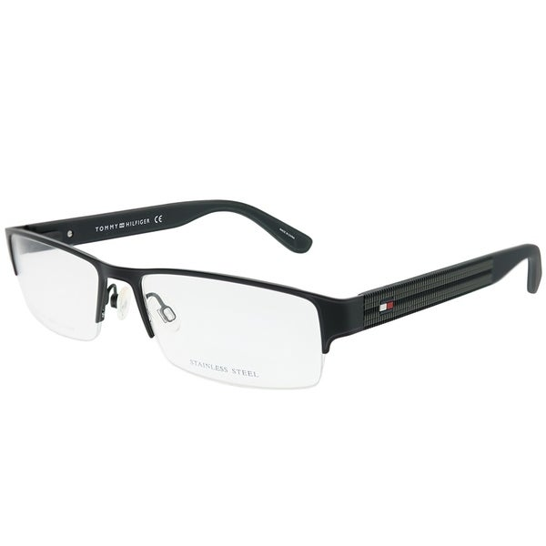 d637c4bf1e Tommy Hilfiger Semi-Rimless TH 1236 94X Unisex Matte Black Frame Eyeglasses