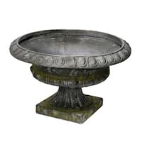 Old Style Magnesium Stout Planter Urn, Slate Gray