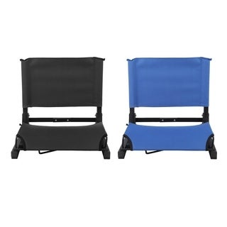 Folding Portable Stadium Bleacher Cushion Chair Durable Padded Seat With Back