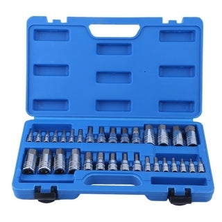 32 Pcs Allen Wrench Bit Kit Chrome-Vanadium Ratchet Socket Impact Socket Set
