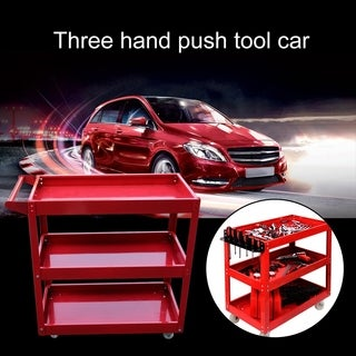 Professional Workshop Garage DIY Tools Storage Trolley Wheel Cart Tray