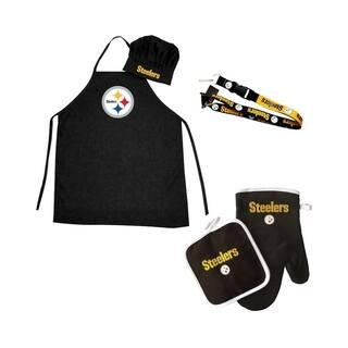 dd73fa21d NFL Pittsburgh Steelers Sports Team Logo Combo BBQ Set - Chef Hat, Apron,  Oven