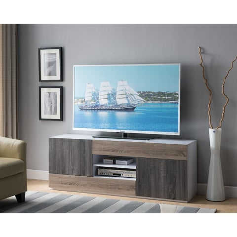 Three Tone Wooden TV Stand, Multicolor
