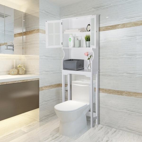 Shop Kinbor Bathroom Organizer Over The Toilet Storage Shelf Bathroom Spacesaver Bathroom