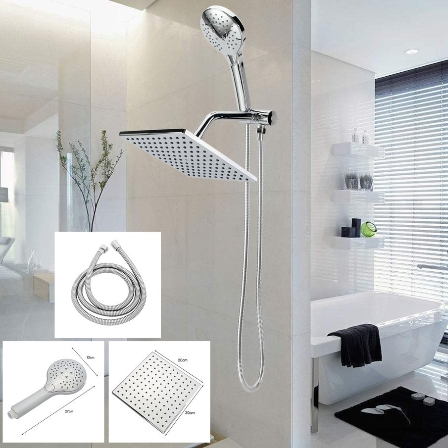 Bathroom Shower Head Set 10.5 Inch Rainfall Sprayer With Handheld Sprinkler