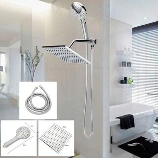 Bathroom Shower Head Set 10.5 Inch Rainfall Sprayer With Handheld Sprinkler