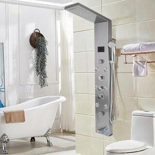 Waterfall Massage Rain Shower Column Thermostatic Tower Shower Body Tub Tap
