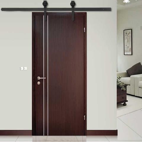 6 FT Modern Door Hardware Closet Set Sliding Track Iron Closet Track Kit