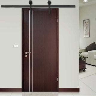 6 FT Modern Door Hardware Closet Set Sliding Track Iron Closet Track Kit