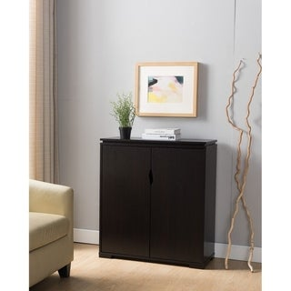 Wooden Shoe Cabinet With Storage, Red Cocoa Brown