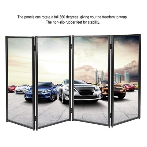 DJ Musician Event Facade Scrim Screen Metal Frame Booth With Carrying Bag - black&white