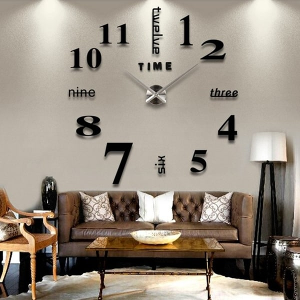 Shop Modern Diy Large Wall Clock For Home Office Decor Free