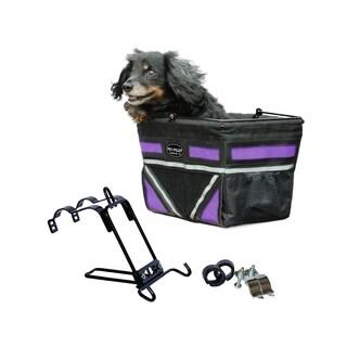 Travelin K9 Pet Pilot Bike Basket with Front Air Vent - Purple Passion