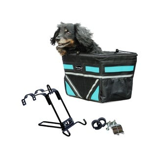 Travelin K9 Pet Pilot Bike Basket with Front Air Vent - Turquoise