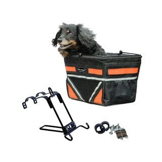 Travelin K9 Pet Pilot Bike Basket with Front Air Vent - Neon Orange