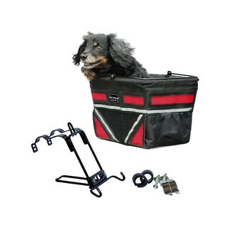 Travelin K9 Pet Pilot Bike Basket with Front Air Vent - Cherry Red