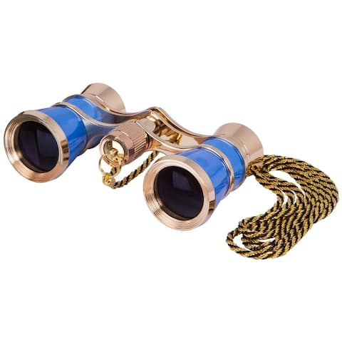 Levenhuk Broadway 325C Blue Wave Opera Glasses with a chain