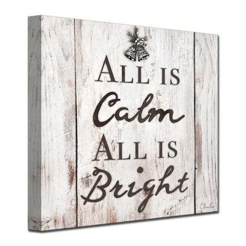 Ready2HangArt 'Christmas Silent Night' Wrapped Canvas Textual Wall Art