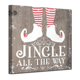 Olivia Rose 'Christmas Jingle all the Way' Wrapped Canvas Textual Wall Art