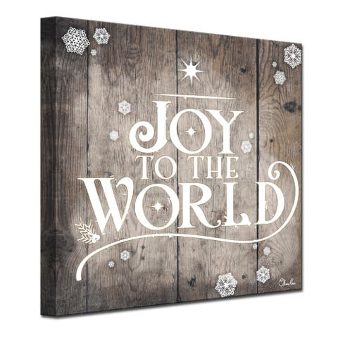 Olivia Rose 'Christmas Joy to World' Wrapped Canvas Textual Wall Art