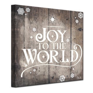 Ready2HangArt 'Christmas Joy to World' Wrapped Canvas Textual Wall Art