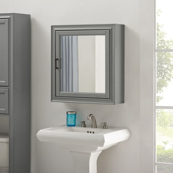 Tara Bath Mirror Cabinet In Vintage Grey N A