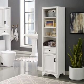 Tara Linen Cabinet In Vintage White - N/A
