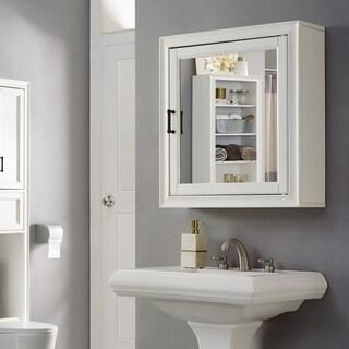 Tara Bath Mirror Cabinet In Vintage White