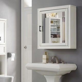 Tara Bath Mirror Cabinet In Vintage White   N/A