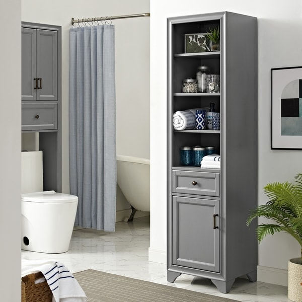 Shop Tara Linen Cabinet In Vintage Grey