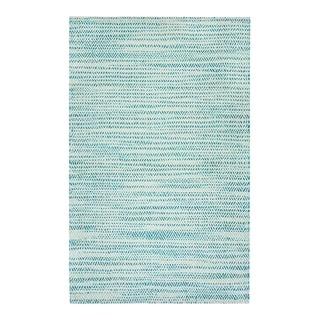 Jani Tari Jute Green/Ivory Flatweave Rug - 8' x 10'