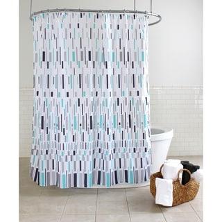 "Splash Home Bars Polyester Fabric Shower Curtain, 70"" x 72"", Blue"