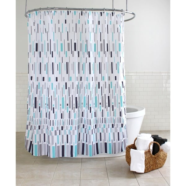 Splash Home Bars Polyester Fabric Shower Curtain 70 X 72
