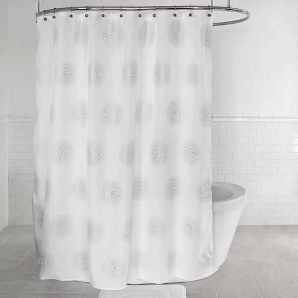 shop splash home radiant polyester fabric shower curtain 70 x 72 white free shipping on. Black Bedroom Furniture Sets. Home Design Ideas