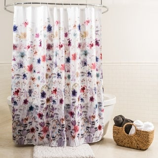 "Splash Home Vera Polyester Fabric Shower Curtain, 70"" x 72"", Multi Colors"