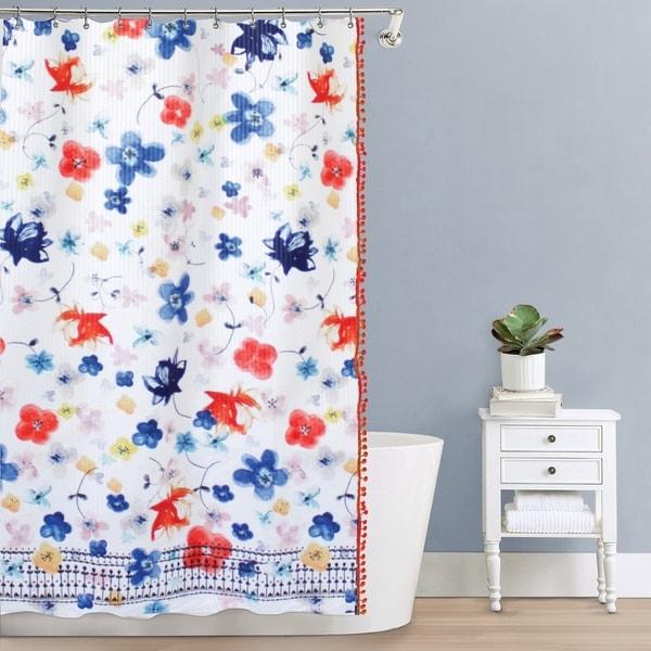 Splash Home Vita Polyester Fabric Shower Curtain 70 X 72