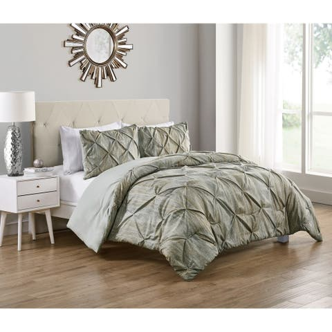 VCNY Home Distressed Karla Pintuck Duvet Cover Set