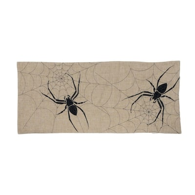 Halloween Creepy Spiders Double layer 16 by 36-Inch Table Runner, Natural