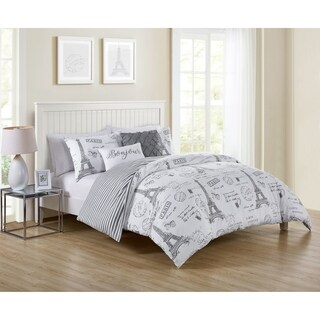 VCNY Home Paris Night Reversible Duvet Cover Set