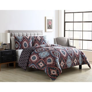 VCNY Home Coria Reversible Ogee Duvet Cover Set