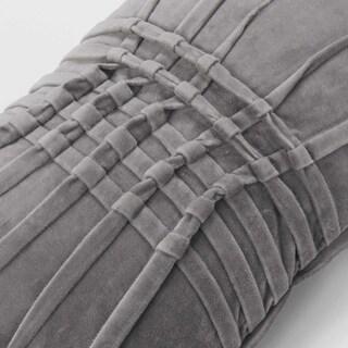 Luxurious Cotton Velvet Pin tucked Throw Pillow