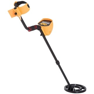 Outsunny 5 Mode LCD Water Resistant Adjustable Handheld Metal Detector - Yellow / Black - 40.25-52.25""