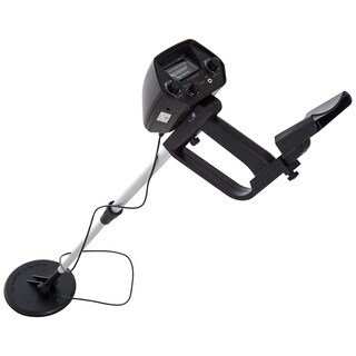 Outsunny 2 Mode Adjustable Water Resistant Underground Handheld Metal Detector - Black - 30.5-41.25""
