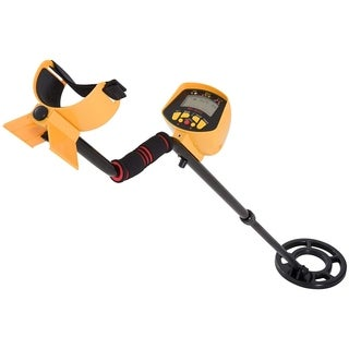 Outsunny 2 Mode LCD Water Resistant Adjustable Handheld Metal Detector - Yellow/Black - 41-52""